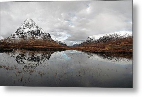 Lochan Na Fola Panorama Metal Print featuring the photograph Lochan Na Fola Panorama by Grant Glendinning