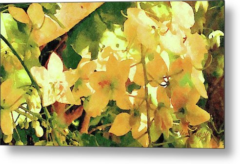 Golden Shower Tree Metal Print featuring the digital art One With Nature by James Temple