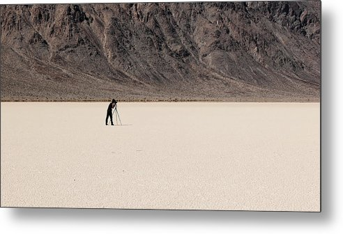 Darin Volpe Nature Metal Print featuring the photograph Photographer - Death Valley National Park by Darin Volpe