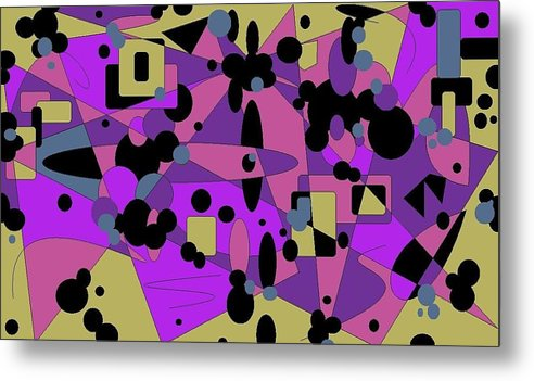 Digital Abstract Metal Print featuring the digital art Pretty Picture by Jordana Sands