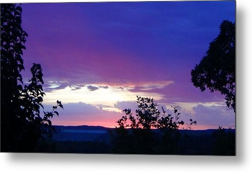 Purple Sunset Metal Print featuring the photograph Purple Passion by Toni Berry