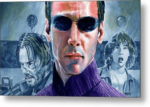 Keanu Reeves Metal Print featuring the painting Reeves Redux by Ken Meyer jr
