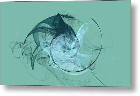 Abstract Metal Print featuring the digital art Sea Monster by Frederic Durville