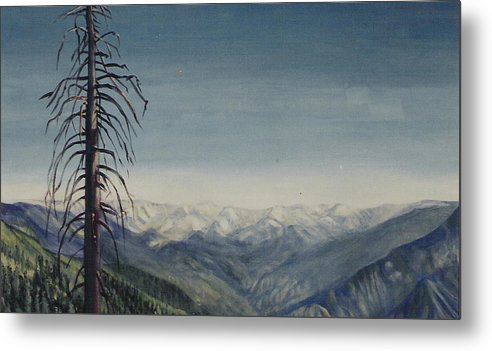 Sequoia National Park Metal Print featuring the painting Sky blue by Howard Stroman