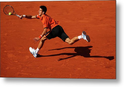 Tennis Metal Print featuring the photograph 2015 French Open - Day Eleven by Clive Brunskill