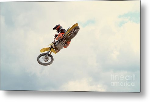 Expertise Metal Print featuring the photograph Motorbike Riding by Simonkr
