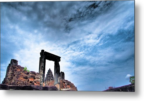 Cambodian Culture Metal Print featuring the photograph Angkor by Cjfan