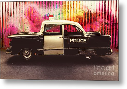 City Metal Print featuring the photograph Colorful Crime by Jorgo Photography - Wall Art Gallery