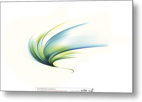 Curve Metal Print featuring the digital art Curved Shape On White Background by Eastnine Inc.