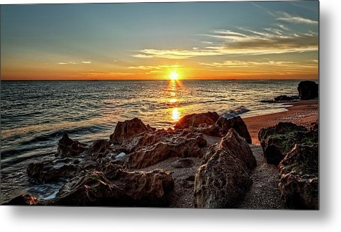 Beach Metal Print featuring the photograph House of Refuge Beach 7 by Steve DaPonte