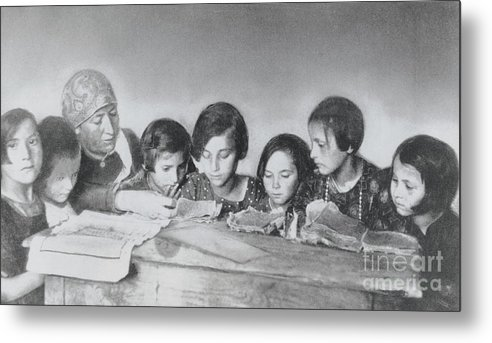 Education Metal Print featuring the photograph Jewish Teacher With Her Girl Students by Bettmann