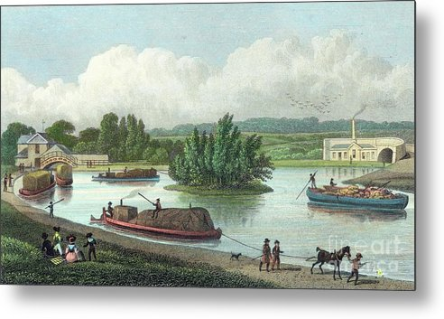 Horse Metal Print featuring the drawing Junction Of Regents Canal At Paddington by Print Collector