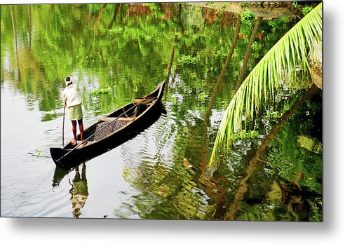 Scenics Metal Print featuring the photograph Kerala Backwaters by Gopan G Nair