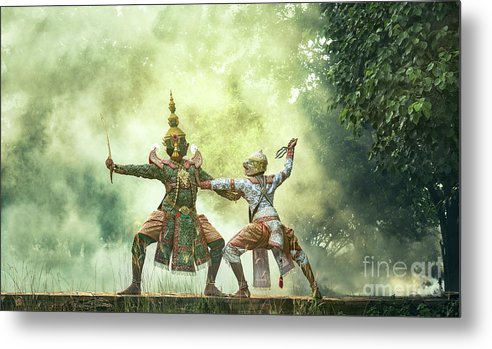 Art Metal Print featuring the photograph Khon Is Traditional Dance Drama Art by Std