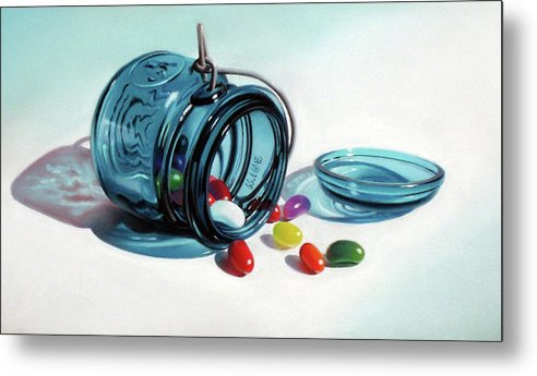 Jelly Beans Metal Print featuring the pastel Last of the Beans by Dianna Ponting