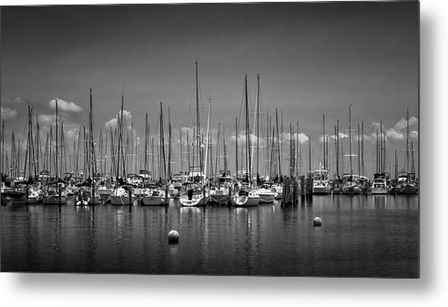 Yacht Metal Print featuring the photograph Marina No.1 by Steve DaPonte
