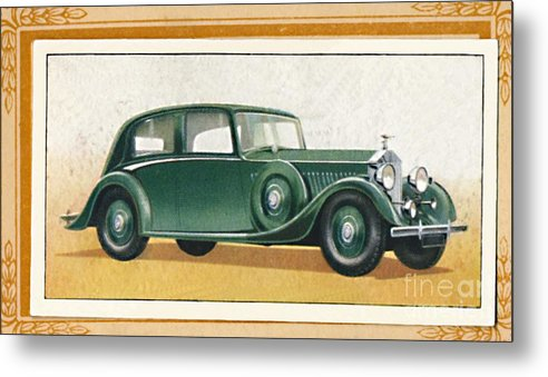 Rolls Royce Metal Print featuring the drawing Rolls-royce 20-25 Saloon, C1936 by Print Collector