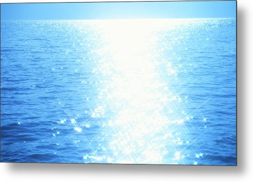 Sunlight Metal Print featuring the photograph Shining Water by Ooyoo
