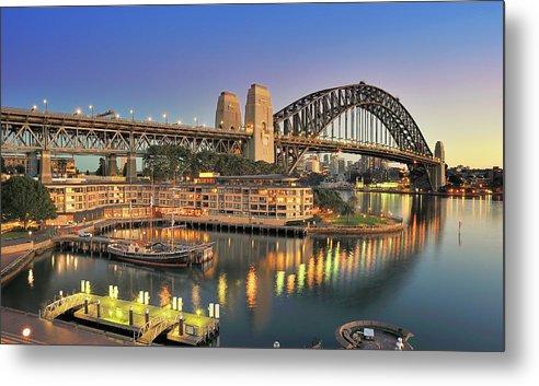 Built Structure Metal Print featuring the photograph Sydney Harbour Bridge by Warwick Kent