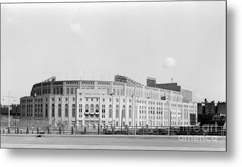 American League Baseball Metal Print featuring the photograph Yankee Stadium by Olen Collection