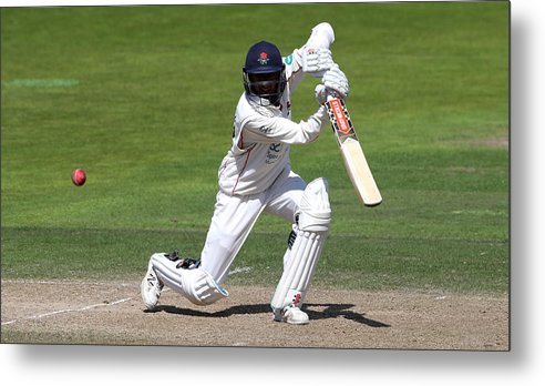 Nottinghamshire Metal Print featuring the photograph Nottinghamshire v Lancashire - Specsavers County Championship: Division One by David Rogers