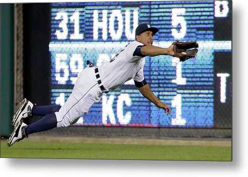 Ninth Inning Metal Print featuring the photograph Anthony Gose and Ben Zobrist by Duane Burleson
