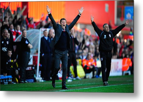 England Metal Print featuring the photograph Bristol City v Coventry City - Sky Bet League One by Stu Forster
