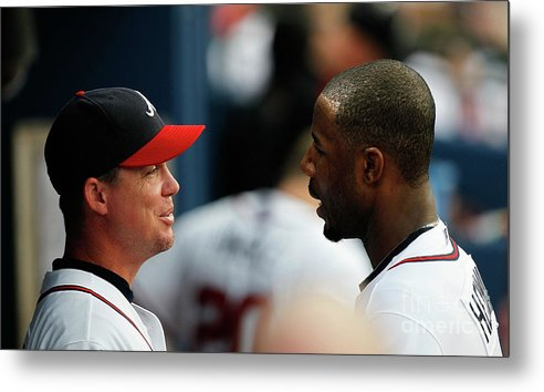 Atlanta Metal Print featuring the photograph Chipper Jones and Jason Heyward by Kevin C. Cox
