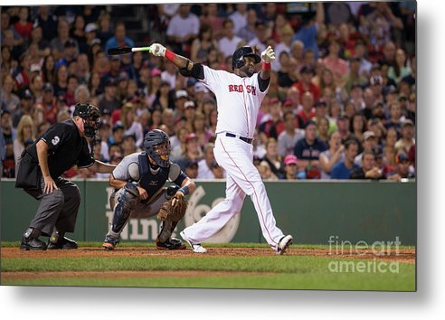 People Metal Print featuring the photograph David Ortiz by Rich Gagnon