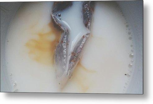 Milk Metal Print featuring the photograph Detail Shot Of Drink by Roman Pretot / EyeEm