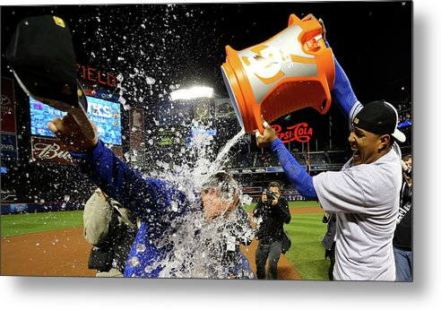 Salvador Perez Diaz Metal Print featuring the photograph Ned Yost by Al Bello