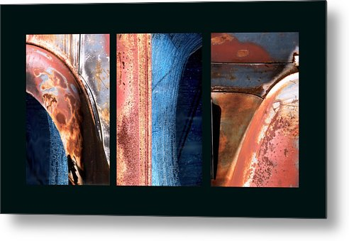 Abstract Metal Print featuring the photograph Ole Bill by Steve Karol