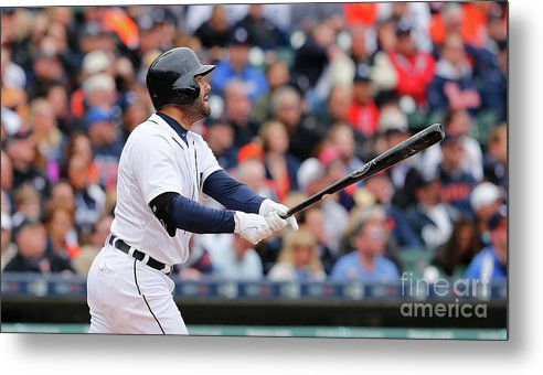 Second Inning Metal Print featuring the photograph Yoenis Cespedes and Alex Avila by Leon Halip