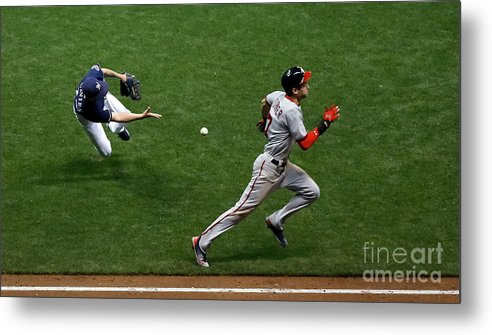 People Metal Print featuring the photograph Zach Davies and Trea Turner by Jon Durr