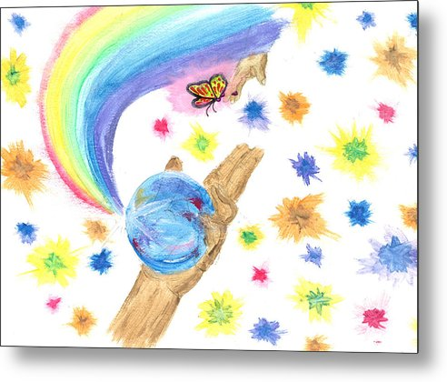 Metal Print featuring the drawing Colorful Journey by Harry Richards