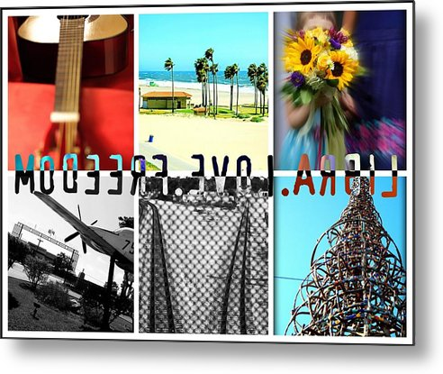 Libra.love.freedom Metal Print featuring the photograph LLF Collage by D Wash