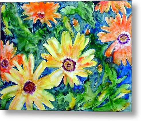 Flower Metal Print featuring the painting Daisy May by Marsha Elliott