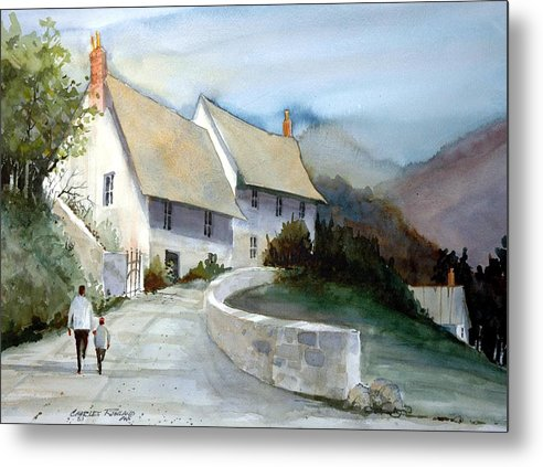 Devonshire Metal Print featuring the painting Devonshire Cottage II by Charles Rowland