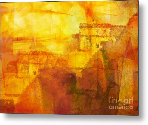 Morocco Metal Print featuring the painting Morocco Impression by Lutz Baar