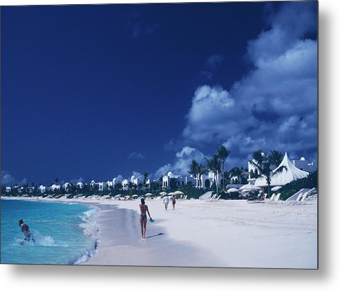 People Metal Print featuring the photograph Anguilla Beach Resort by Slim Aarons