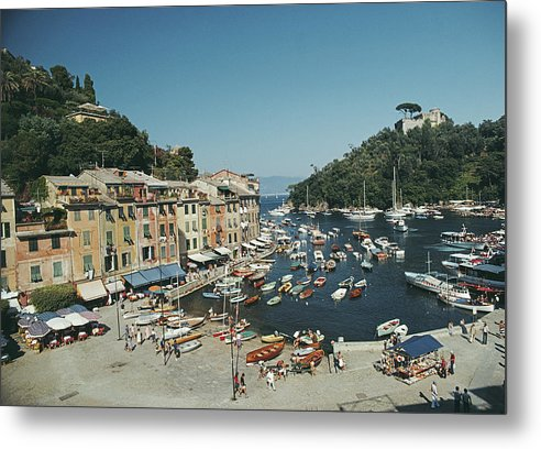 Scenics Metal Print featuring the photograph Portofino Harbour by Slim Aarons