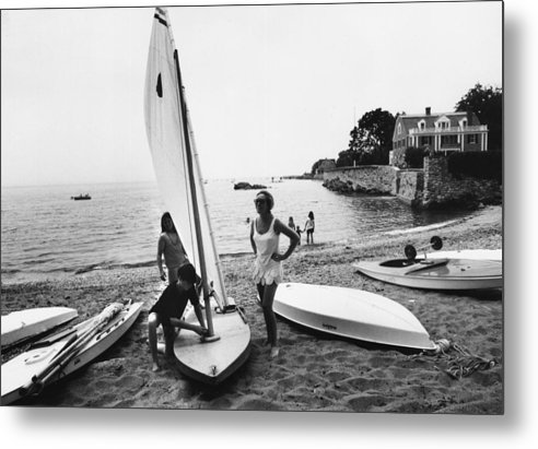 Child Metal Print featuring the photograph Sailboat by Slim Aarons