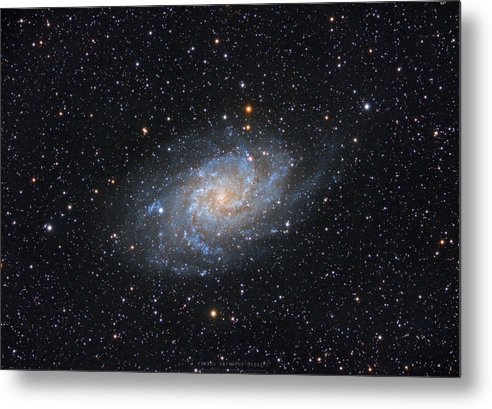 Galaxy Metal Print featuring the photograph Triangulum Galaxy by Prabhu Astrophotography