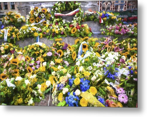 Brugge Metal Print featuring the photograph Flowers in Brugge by Sheila Smart Fine Art Photography