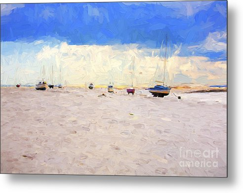 Yachts Metal Print featuring the photograph High and dry by Sheila Smart Fine Art Photography