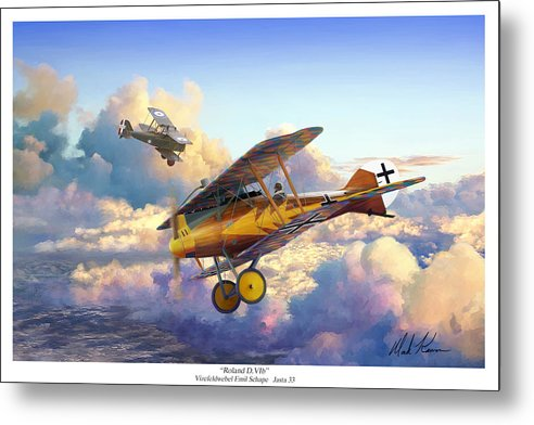 Roland D.vi Metal Print featuring the painting Roland D.VIb by Mark Karvon