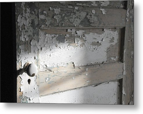 Old Door Metal Print featuring the photograph time II by Leon Hollins III