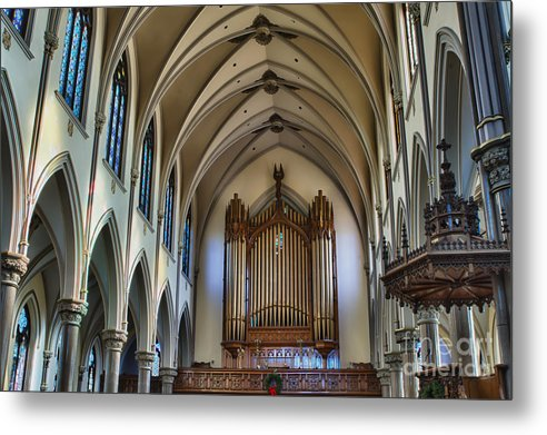 Metal Print featuring the photograph St Louis Church 13 by Chuck Alaimo