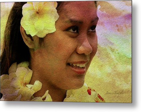 Flowers That Smile Metal Print featuring the digital art Flowers That Smile by James Temple