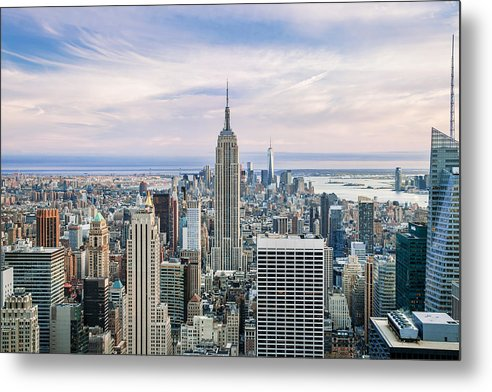 Empire State Building Metal Print featuring the photograph Amazing Manhattan by Az Jackson